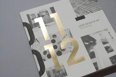 Foil Stamp / LCA Prospectus 2011/12 - Workshop Graphic Design & Print - Leeds, West Yorkshire
