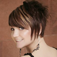 Fancy Short Side Bang Capless Shaggy Wavy Brown Mixed Women's Synthetic Wig 12.06 USD