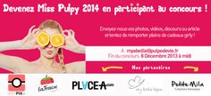Découvrez le Jeu Concours Miss Pulpy 2014... Pleins de jolis #cadeaux girly à gagner ! Vite, tentez votre chance : http://www.pulpedevie.fr/blog/2013/12/jeu-concours-gratuit-beaute-miss-pulpy/