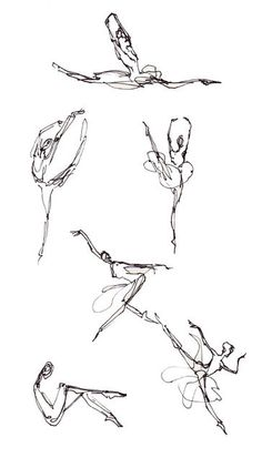 I wanted to be a dancer when I was growing up.TG beautiful sketches of dancers