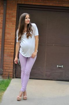 DIY Clothes Maternity Refashion : DIY Mens tee to loose top with gathered back (for maternity and non-maternity)
