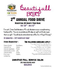 SECOND ANNUAL FOOD DRIVE 2012