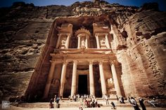 Jordan's most-visited tourist attraction, Petra is famous for its rock-cut architecture. The city is also known as the Rose City due to the color of the rock from which it has been hewn.  #Jordan #Travel