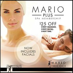MarioPlus just added another…plus! $25 off every facial, every time. #byMario #ChicagoSalon #ChicagoSpa