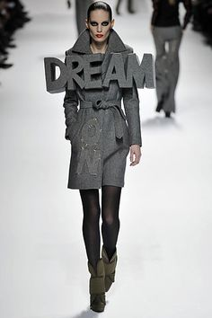 """Viktor and Rolf Fall 2008. """"3D lettering was a 'stand out' feature this year."""""""