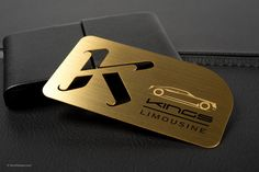 Metal business cards los angeles best business card printing in brushed gold metal business card 2 reheart Images