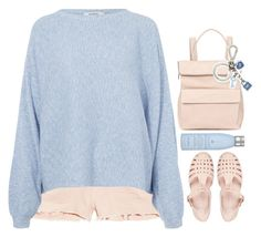 """""""hugs"""" by emilypondng ❤ liked on Polyvore featuring J Brand, Rodebjer, River Island, Whistles, Michael Kors and Drybar"""