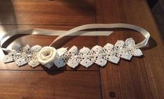 A crochet pattern using no. 10 crochet thread to make a lovely christening headband. This is a PDF download pattern