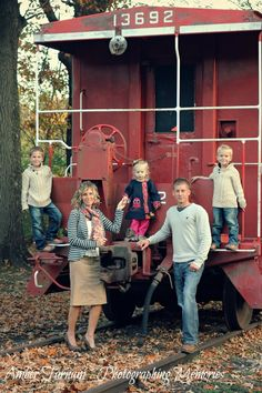 family photos, family by train, family pictures