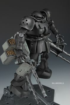 GUNDAM GUY: MG 1/100 Zaku F2 Heavy Machine Guns - Custom Build