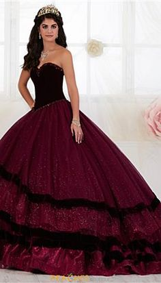 Elegant Tiffany quinceanera dress 26907 will make a lasting impression. The dress features a sweetheart neckline with a velvet corset bodice. Quince Dresses, Formal Dresses, Wedding Dresses, Quinceanera Collection, Perfect Prom Dress, Dramatic Look, Lace Corset, Princess Dresses, Quinceanera Dresses