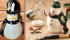 Décoration de Noël à faire avec une ampoule brûlée!