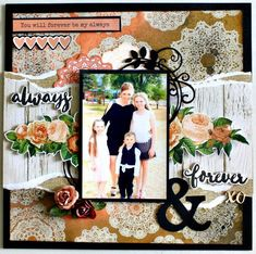 Kaisercraft Always and Forever Layout by Alicia McNamara Wedding Scrapbook, Diy Scrapbook, Scrapbook Albums, Scrapbook Layouts, Scrapbooking Ideas, Diy Paper, Paper Crafts, Kids Pages, Craft Tutorials