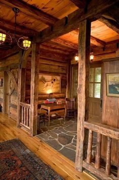 Interior De Casas Beige - - Home Interior Inspiration - Interior Quarto Arquitetura - Industrial Art Deco Interior - Style At Home, Wooden Lodges, Rustic Home Interiors, Rustic Homes, Rustic Cabins, Log Cabin Homes, Log Cabins, Cabin House Plans, Small Backyards