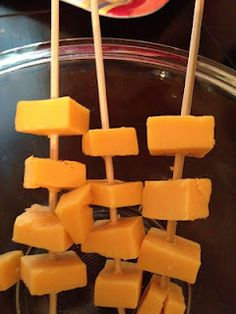 Kids snack-cheese kabobs