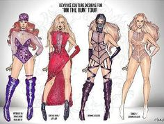 Beyonce On The Run Tour outfits