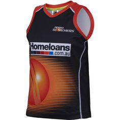 The Perth Scorchers 2015/16 Kids Training Singlet is an exact replica of the singlet worn by your favourite player during practice. If your young one is playing a round of backyard cricket or is just trying to stay cool this summer, this singlet will be a favourite for young cricket fans! The lightweight singlet features sublimated logos on the front and back, along with contrast colour neckline and side panels.