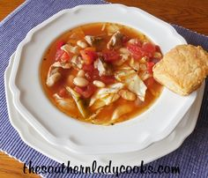 This crock pot cabbage soup is great for the fall of the year or anytime you want a hearty dish. We love cabbage at my house and I love adding it to soup. Serve it with cornbread or my cheddar sc...