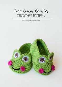Elegant Image of Baby Booties Crochet Patterns Baby Booties Crochet Patterns Crochet Frog Ba Booties Free Crochet Pattern Booties Crochet, Crochet Baby Booties, Crochet Shoes, Crochet Slippers, Baby Slippers, Knitted Baby, Crochet Frog, Cute Crochet, Crochet For Kids
