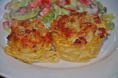 Spaghetti carbonara-Muffins