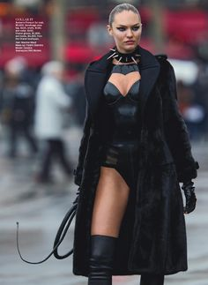 Candice Swanepoel Cracks The BDSM Whip In Wild Cat By Hans Feurer for Vogue Australia June 2013