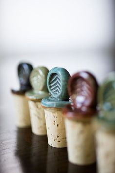 Ceramic Wine Stoppers by JasonWolffPottery on Etsy