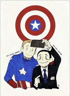 Captain America and Agent Coulson :)