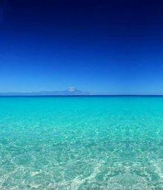 Sarti in Sithonia peninsula, Chalkidiki (Mount Athos on the horizon...)