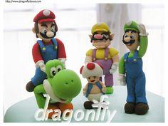Super Mario Characters / Personagens de Super Mario by Dragonfly Doces, via Flickr