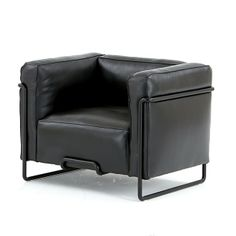 Brooklyn Armchair Chair Pads, Tub Chair, Black Leather Chair, Leather Furniture, Mid-century Modern, Accent Chairs, Armchair, Brooklyn, Room