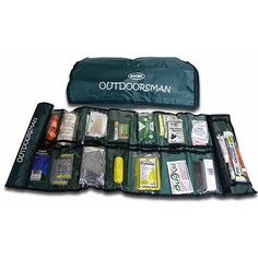 Whether hunting, camping, hiking, backpacking or travelling the wilderness, this Outdoorsman Survival Kit can help tremendously if you're ever stranded or need rescued. It's a convenient emergency survival kit that rolls up into one easy carry bag.