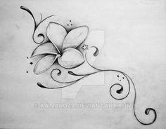Resultado de imagem para plumeria tattoo