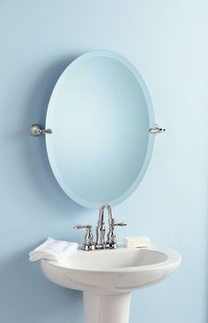 Moen's Caldwell bathroom suite is a great addition to your traditional bath. Traditional Baths, Boise Idaho, Bathroom Faucets, Powder Room, Room Ideas, Sink, Chrome, Detail, Mirror