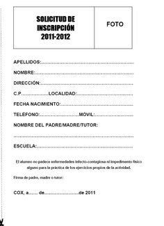 Solicitud de inscripción God Is Good, Spanish, Writing, Education, Reading, Resignation Letter, Introduction Letter, Registration Form, Application For Employment