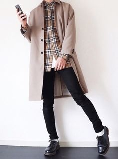 Korean Fashion Men, Asian Fashion, Boy Fashion, Fashion Outfits, Womens Fashion, Fashion Trends, Uniqlo, Winter Mode, Character Outfits