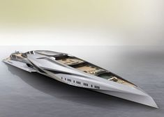 Valkyrie Trimaran Yacht concept by Chulhun Park is a floating entertainment hub