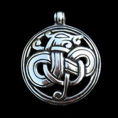 Viking dragon pendants