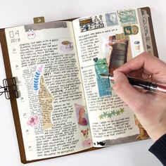Just a little of last week's waffling in my journal ... #journal #tn #travelersnotebook #vintage #stationery #washi #stickers #bujo…