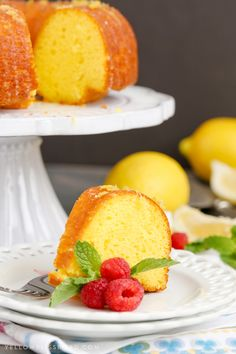 Lemon Bundt Cake - An intensely flavored lemon cake finished with a unique glazing technique to lock in even more lemon flavor. It's the best summer dessert!
