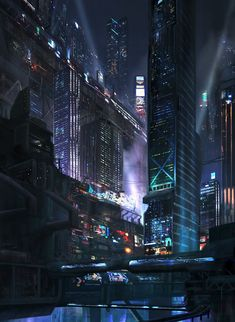Neo Noir, Cyberpunk Atmosphere, Future City                              …