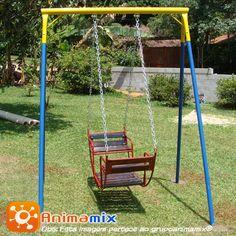 Balanço Gondola, um brinquedos para ser usado por duas crianças.