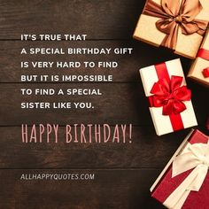 Best Happy Birthday Wishes for Sister & sister-and-law, this beautiful collection of heartfelt special funny birthday wishes for sister will make her happy. Birthday Wishes For Sister, Special Birthday Gifts, Birthday Wishes Funny, Happy Birthday Fun, Sisters, How To Make, Birthday Greetings To Sister, Sister Birthday Wishes, Sister Quotes