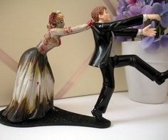 Zombie Wedding Cake Topper   DudeIWantThat.com
