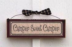 Camper Sweet camper Sign Plaque RV Camp Campsite Decorations Camping Decor | eBay