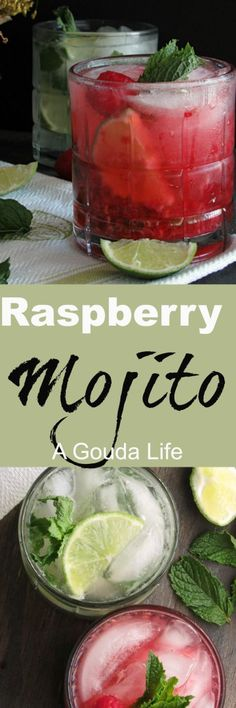 Raspberry Mojito Simple, refreshing, rum-based with a blast of cool, refreshing mint, tangy lime and fresh raspberries for an updated twist OR leave out berries for an authentic Classic Mojito.