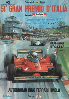 1980 51d Gran Premio D'Italia, Campionato del mondo di F1 14. settembre 1980, Audodromo Dino Ferrari-Imola