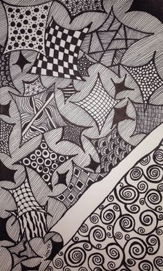 Curled Up - Artful Doodles by LMA