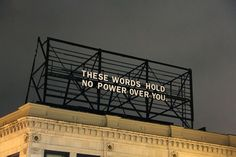 013 Packard Jennings' billboard installation on the corner of Highland and Baum in Pittsburgh, Pennsylvania The Words, Neon Words, Damien Chazelle, Street Quotes, Pretty Words, Billboard, Words Quotes, Techno, Polaroid