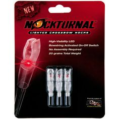 Rage Broadheads Nockturnal Half Moon Crossbow Bolt Nocks Red 3-Pack-707167 - Gander Mountain