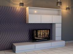 Επένδυση Τοίχου σαλονιού με Διακοσμητικά Κυματιστά Πάνελ [Σειρά Waves] Home Decor, Decoration Home, Room Decor, Home Interior Design, Home Decoration, Interior Design